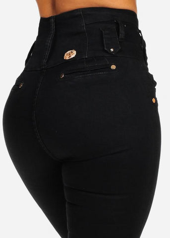 Image of Ultra High Rise Black Skinny Jeans