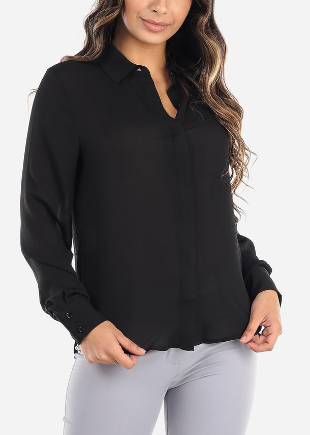 Black Button Down Blouse