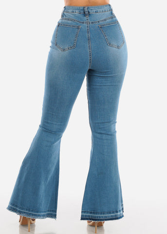 Light Wash High Rise Bell Bottom Jeans