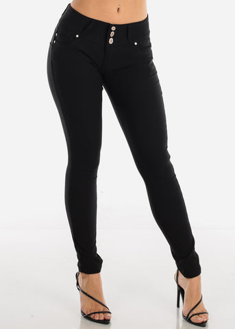 Stretchy Butt Lifting Black Skinny Pants