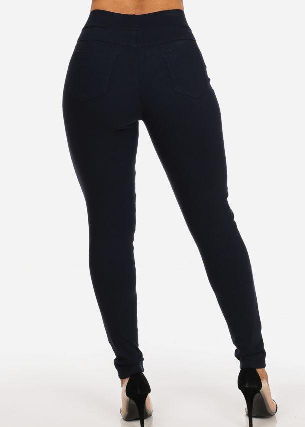 Stylish Trendy Stretchy Going Out Night Out Sexy Classic Basic Navy Skinny Pants