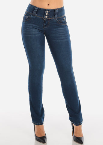 Butt Lifting Bootcut Dark Wash Jeans