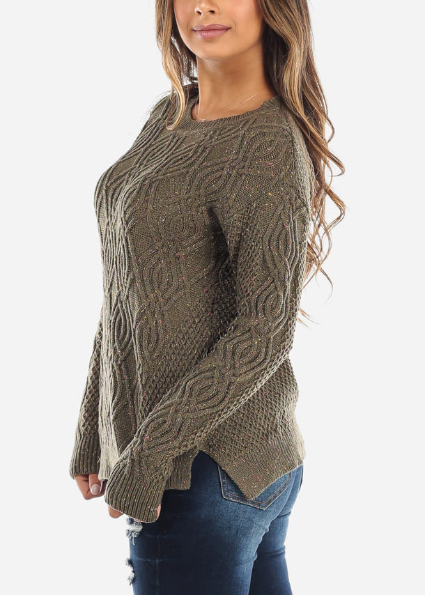 Olive Knit Sweater