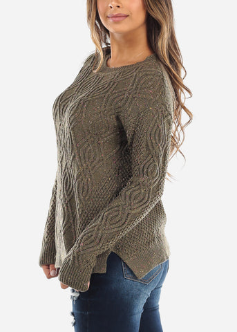 Olive Knit Sweater BFT10666GRN