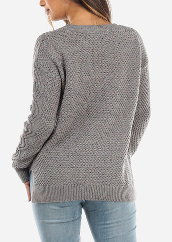 Grey Knit Sweater BFT10666GRY