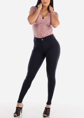 Navy Jegging Skinny Pants