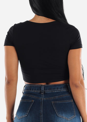 "Image of Black Crop Top ""Holy Chic"""