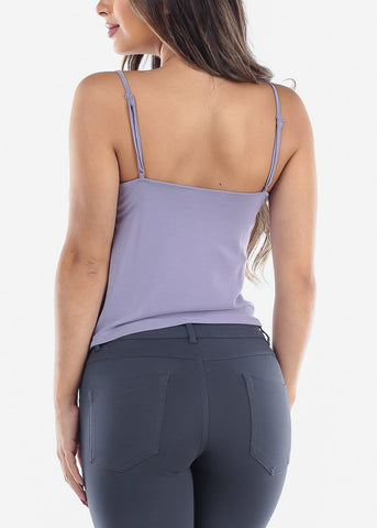 Image of Cowl Neck Lavender Cami