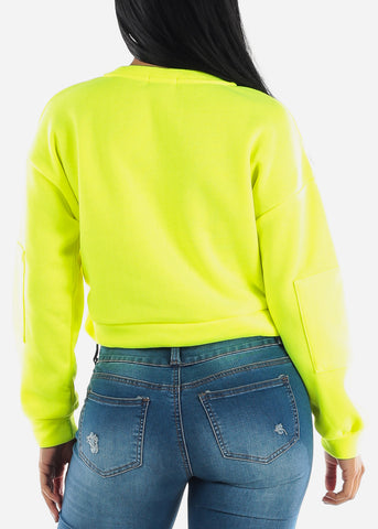 Image of Neon Yellow Fleece Pullover