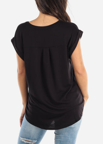 "Image of Black Short Sleeve Top ""Born To Be A Star"""