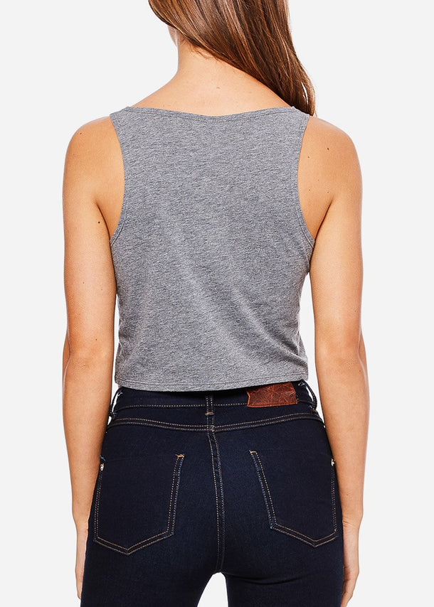 Grey Cropped Tank Top