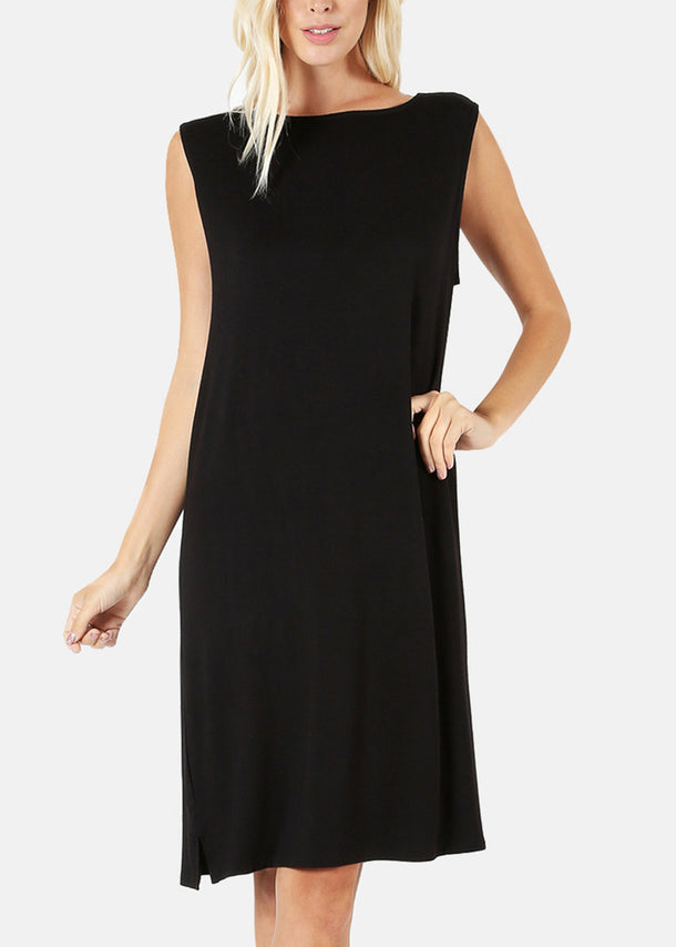 Stretchy Black Tank Dress