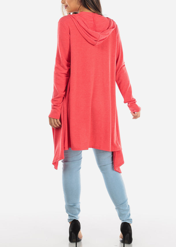 Scarlet Long Sleeve Hooded Cardigan