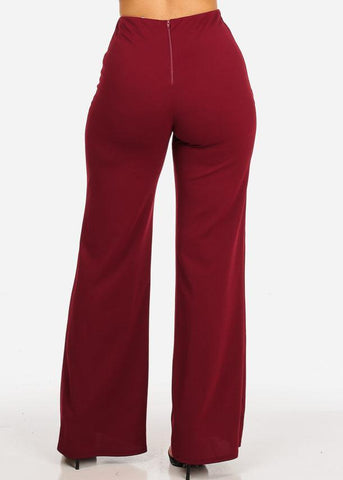 Image of High Rise Burgundy Sailor Pants