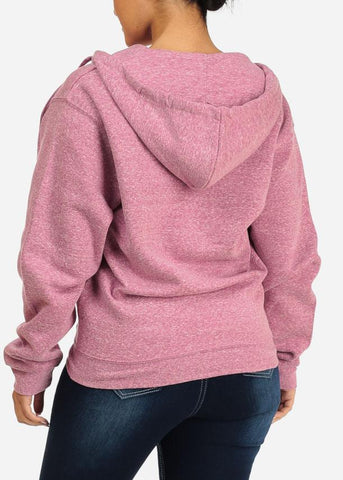 Image of Heather Pink Sweatshirt Hoodie