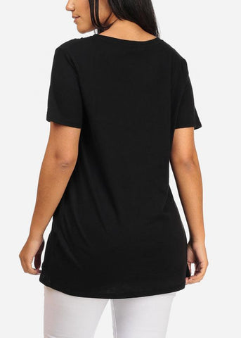 Image of Oversized Basic Black Top