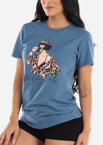"Image of Oversized Graphic Tee ""Wild Girl"""