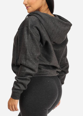 Charcoal Zip Up Hoodie