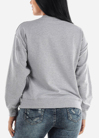 Oversized Crew Grey Sweatshirt