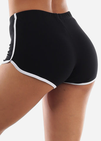 Image of Black Dolphin Hem Shorts