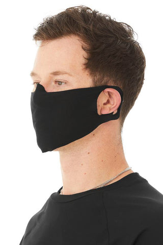 Black Fabric Face Mask (6 PACK) with Fleece