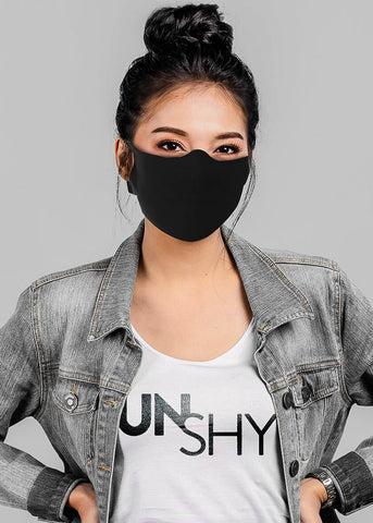 Black Fabric Face Mask (6 PACK)