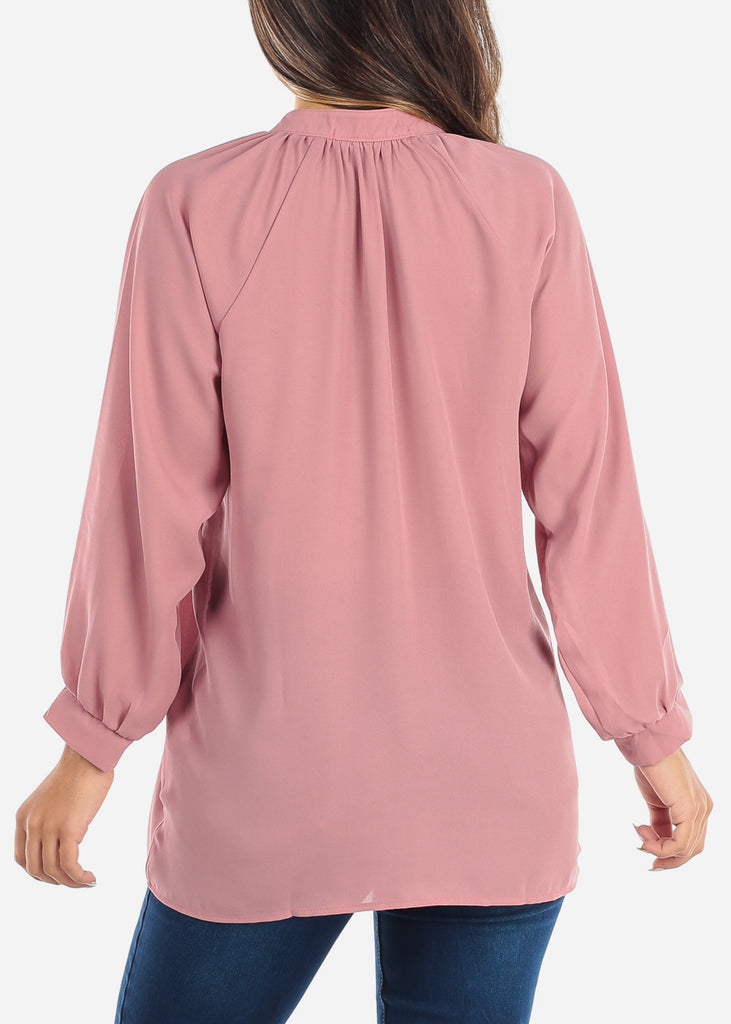 Pink Two Button Blouse