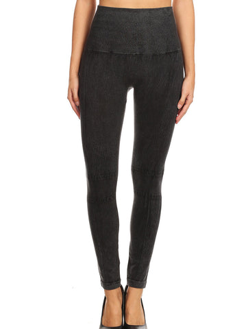 Image of Faded High Rise Black Seamless Leggings