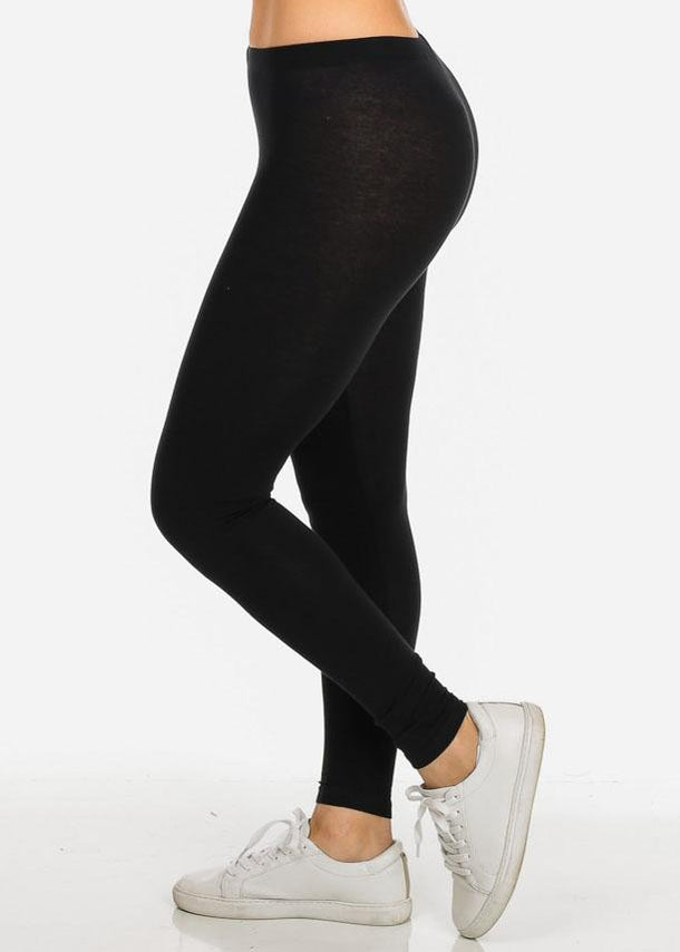 Stretchy Black Jersey Leggings