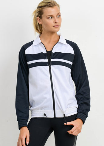 Black And White Zip Up Jacket