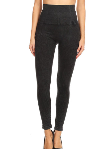 Image of High Rise Faded Black Seamless Leggings