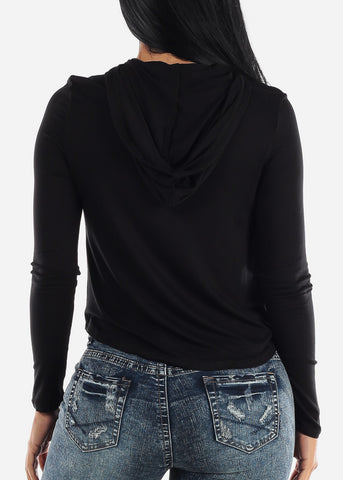 Image of Black Long Sleeve Hoodie