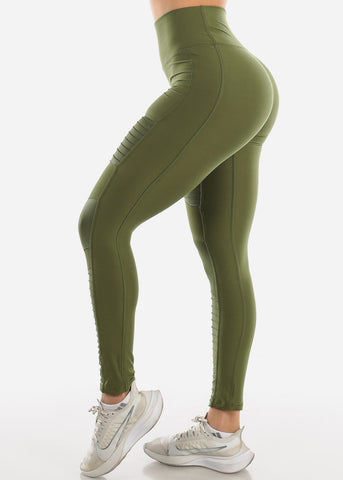 Image of Activewear Moto Olive Leggings