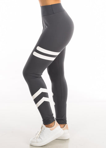 Image of Activewear High Waisted Grey Leggings