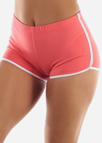 Image of Coral Dolphin Hem Shorts