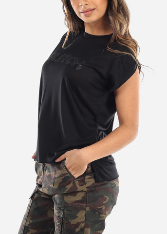 "Image of Black Graphic Top ""Gitch"""