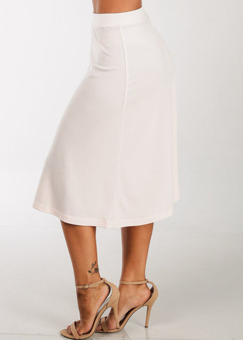 Image of A Line Light Pink Skirt