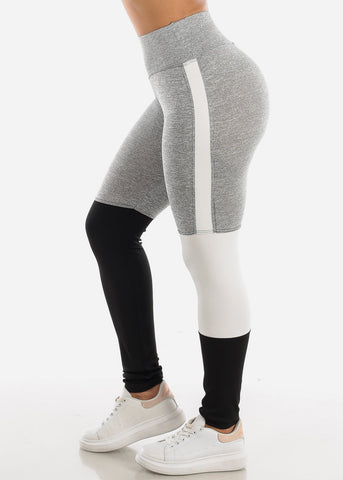 Image of Activewear Colorblock Light Grey Leggings