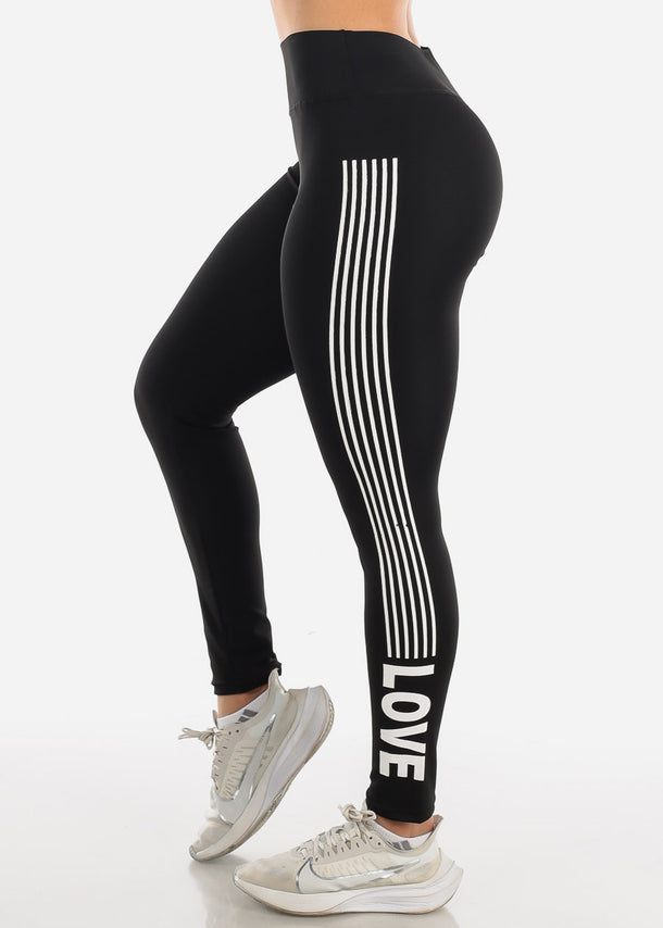 Activewear Black Stripe Leggings