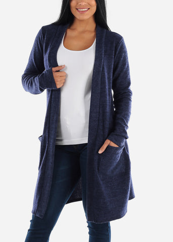 Image of Navy Maxi Sweater Cardigan