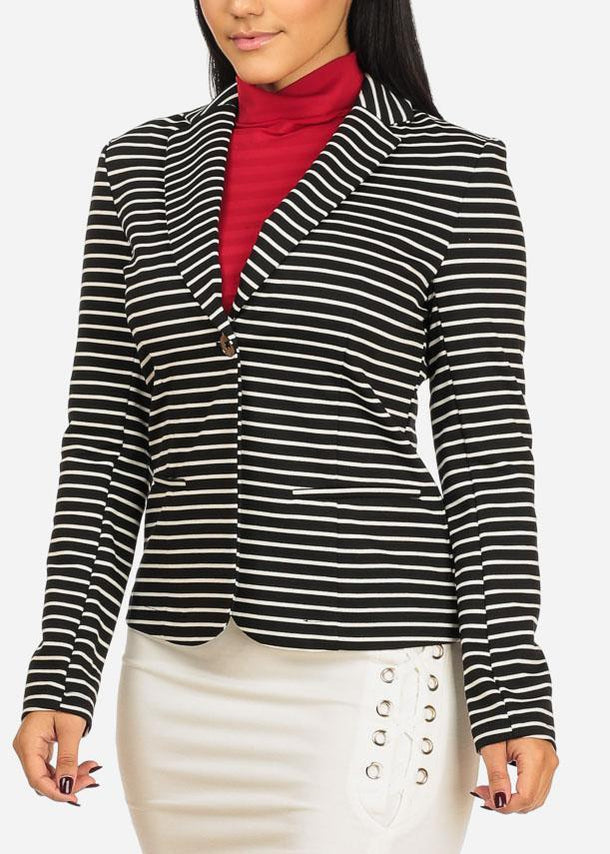 White Stripe Blazer
