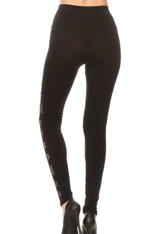 Black Triangle Cutout Seamless Stretchy Leggings