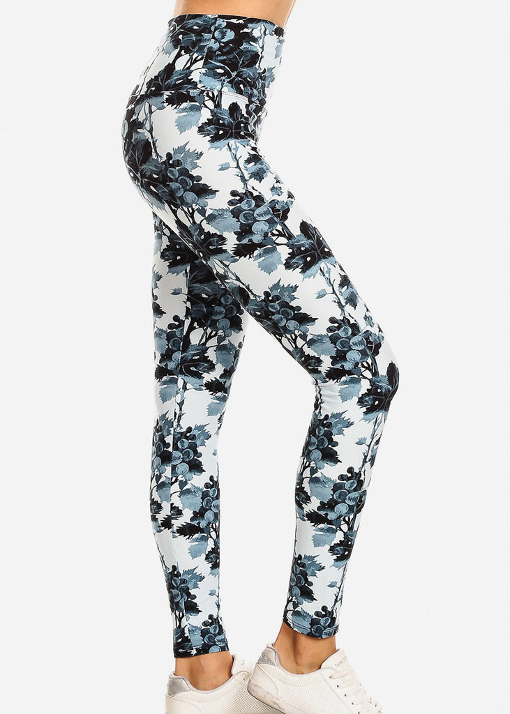 Activewear Light Blue Floral Leggings