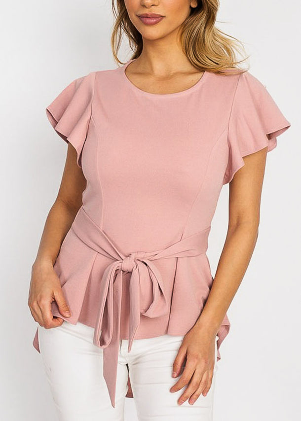 Blush High Low Dressy Top