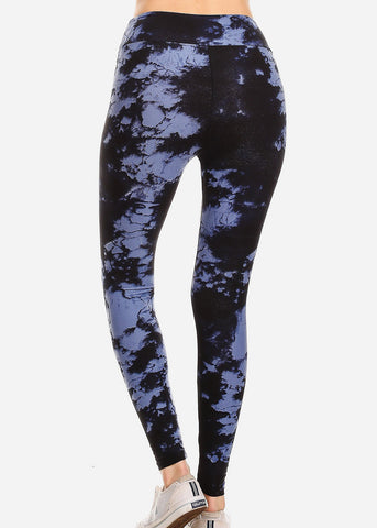 Image of Activewear Black Tie Dye Leggings