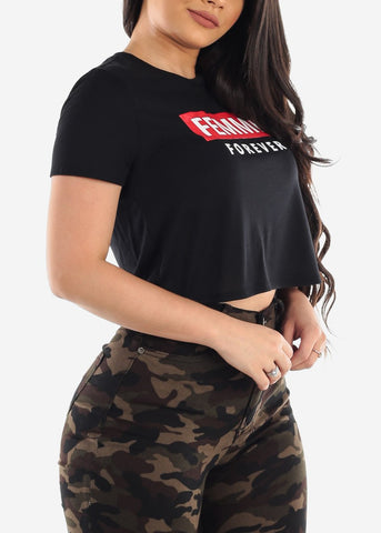 "Image of Black Crop Top ""Femme Forever"""