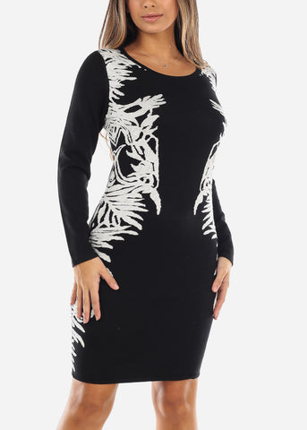 Image of Black Sweater Dress