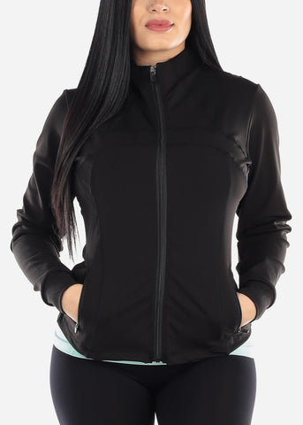 Image of Activewear Black Zip Up Jacket