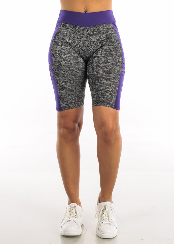 Activewear Heather Purple Bermuda Shorts
