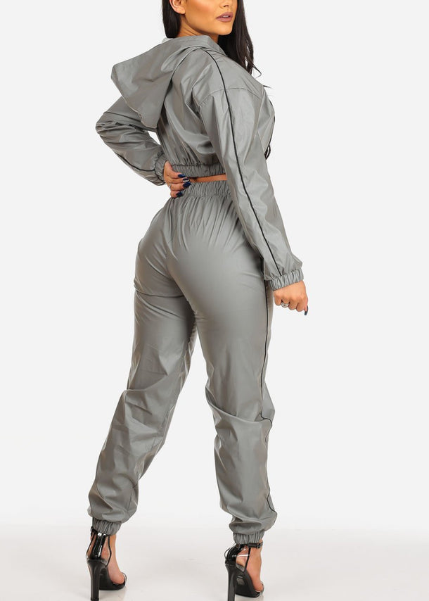 Grey Reflective Windbreaker (2PC SET)